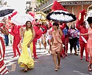 From left to right: Queen Latifah, Regina Hall, Jada Pinkett Smith and Tiffany Haddish in Girls Trip. (Universal Pictures)