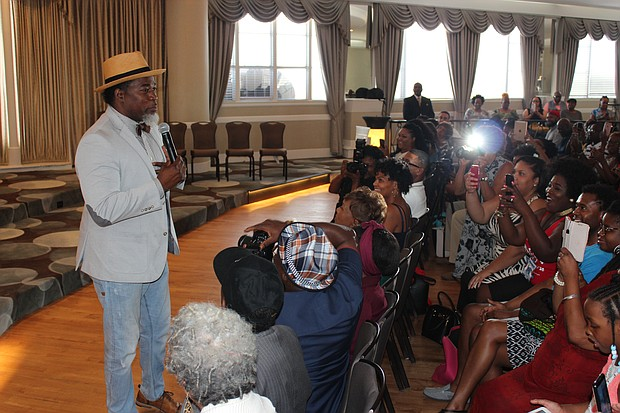 David Banner spoke candidly with a crowd of about 250 during the SCLC Convention at the Peabody Hotel in Memphis on Saturday.