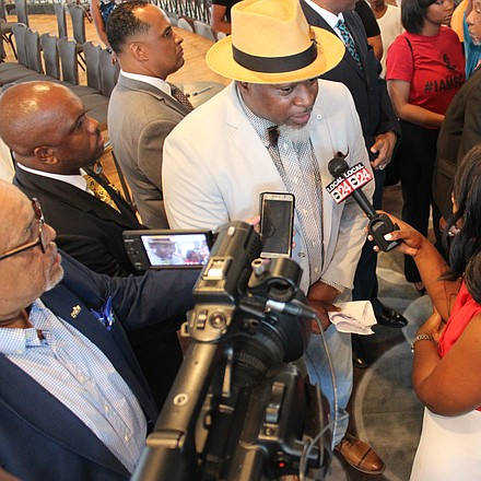David Banner was interviewed by media shortly after his presentation.