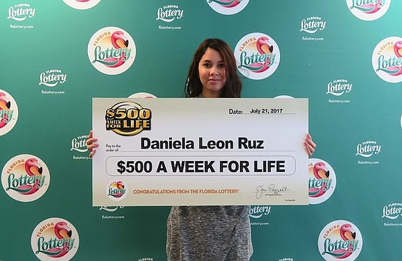 A one dollar investment is all it took for an 18-year-old Florida woman to win a set salary for life.