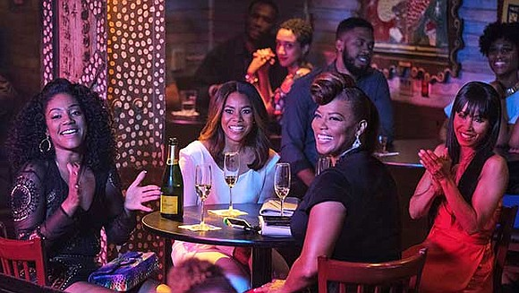 Hall plays alongside Queen Latifah, Jada Pinkett Smith and Tiffany Haddish in an over-the-top comedy she says is about sisterhood, ...
