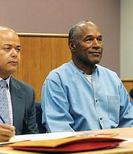 O.J. Simpson attends his parole hearing at Lovelock Correctional Center Thursday in Lovelock, Nev.