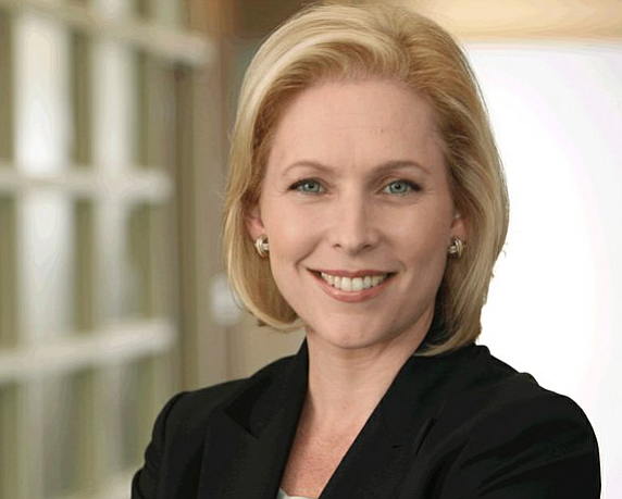 New York's Sen. Kirsten Gillibrand addressed topics ranging from health care, gun violence, race relations and Israel at a town ...