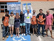 Volunteers meet at Home Depot in Annapolis to pick up air conditioning units, deliver them to local residents, and set them up. Over 30 air conditioning units have been given to help Annapolitans who needed help to beat the heat.
