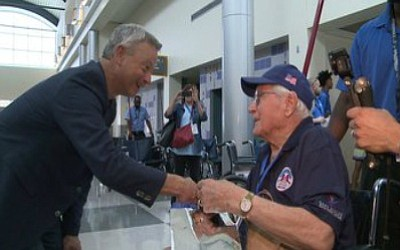 Today, 27 World War II veterans made the trip from Los Angeles to New Orleans, as part of the Gary ...