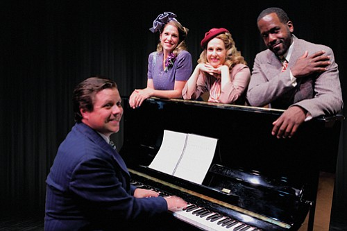 Mont Chris Hubbard (from lef) Merideth Kay Clark, Susannah Mars and Don Kenneth Mason showcase the music of Irving Berlin in 'The melody Lingers On,' at the Osterman theater at Clackamas Community College.