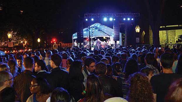 2,000 Bastille Day revelers gathered on Marlborough Street.