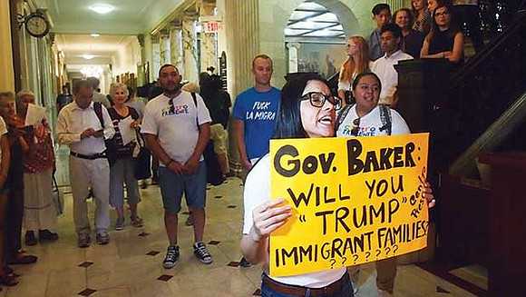 Immigrant activists clashed with prominent Republicans last week after state lawmakers and Gov. Charlie Baker announced a proposal that would ...