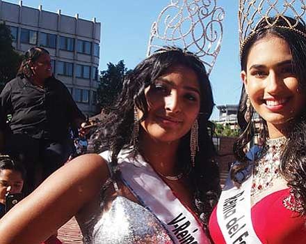 Vice queen and queen Melany Ortiz and Priscilla Jiminez.