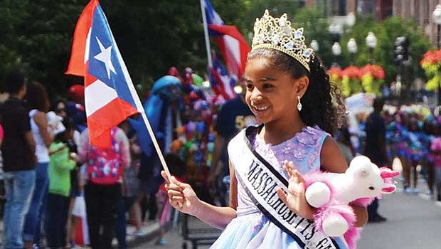 A young princess in the 50th annual Puerto Rican Festival. Thousands of Puerto Ricans turned out to City Hall plaza for this year's festival.