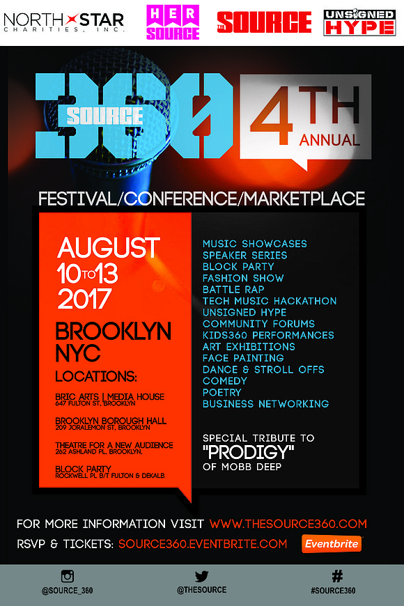 There's going to be a hip-hop/social justice takeover in Brooklyn next week as the fourth SOURCE360 Festival and Conference takes ...