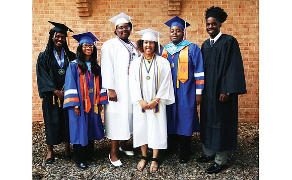 Six college bound students are the recipients of the 2017 Tomorrow's Promise scholarships from the Richmond Redevelopment and Housing Authority.