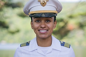 U.S. Military Academy Class of 2018 Cadet Simone Askew was selected First Captain of the Corps of Cadets, the highest position in the cadet chain of command. (Photo Credit: 2nd Lt. Austin LaChance)
