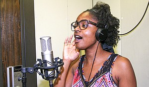Music student Tiffany Briscoe, who plans to work in music theater, participates in Cedar Valley College's commercial music program.