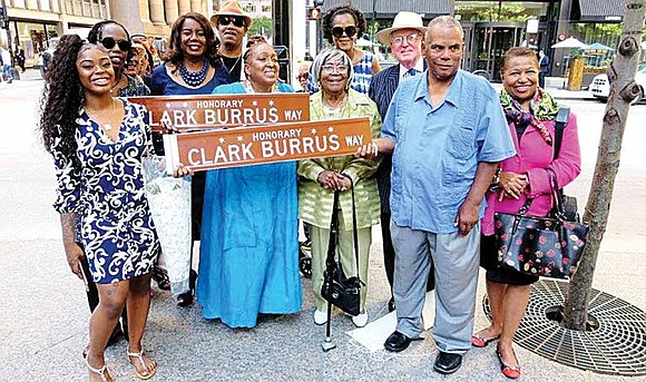 Alderman Edward M. Burke (14th) presided over a ceremony dedicating an entire block along South Clark Street between Madison and ...