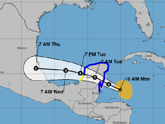 Tropical Storm Franklin made landfall on the eastern coast of Mexico's Yucatan Peninsula late Monday, according to the National Hurricane ...
