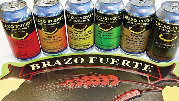 Brazo Fuerte's line of handcrafted ales, made with organic ingredients.
