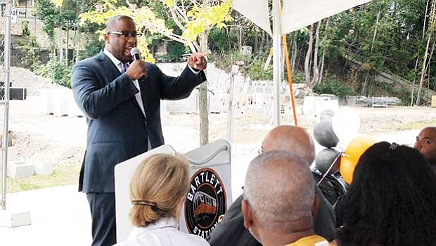 City Councilor Tito Jackson praised the development for its high percent of non-market rate housing.