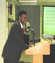 In this file photo, South Gwinnett student Sadrac Desert speaks to a crowd in May 2015 at the end-of-the-year celebration.
