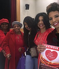 "Playwright Ursula V. Battle holding a ""For Better or Worse"" Playbill (from right) with supporters Vashtied Battle-Brown, Tyiese M. Battle, Koreatha Cumberbatch and Barbara Pickett. The hit stage play returns for encore performances on August 26 and August 27, 2017 at One God One Thought in Windsor Mill, Maryland. For tickets, visit: www.battlestageplays.com or call: 443-531-4787."