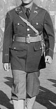 WWII image of LTC Vernon F. Greene, Commander of the 231st Transportation Truck Battalion took units from the 231st to Korea on August 19, 1950.