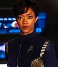 "Sonequa Martin-Green stars in ""Star Trek: Discovery.""  Photo Credit: CBS / Jan Thijs"