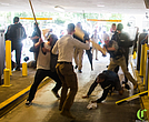 Deandre Harris, 20, being beaten by white supremacists in Charlottesville, Va.