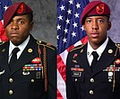 The soldiers have been identified as 30-year-old Sgt. Roshain E. Brooks of Brooklyn, New York (left) and 22-year-old Sgt. Allen L. Stigler Jr. of Arlington, Texas.