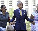 Al Sharpton and family of police chokehold death victim Eric Garner.