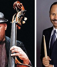 (left) Portland native Essiet Okon Essiet, now one of New York's busiest bassists, will perform with his group IBO at this weekend's  Montavilla Jazz Festival  taking place Saturday and Sunday at Portland Metro Arts, a nonprofit supporting local artists at 9003 S.E. Stark St. (right) Portland jazz great Ron Steen.