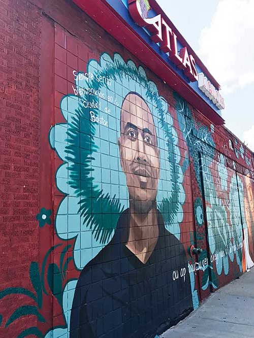 "The City of Boston's art initiative, ""To Immigrants With Love,"" celebrates local immigrant stories via murals in Roslindale and East ..."
