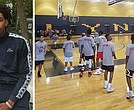Campers at the Cameron Payne Foundation Basketball Camp held at Lausanne Collegiate School.