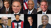 Sen. Mark Warner, Sen. Tim Kaine, Congressman A. Donald McEachin, Gov. Terry McAuliffe, Chris Hilbert, George Keith Martin, Kim Bobo and Cheryl Ivy Green