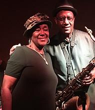 Berta Indeed and saxophonist Patience Higgins