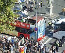 A van has hit a crowd at Placa Catalonia, in the Ramblas area of Barcelona