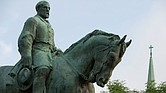 The statue of Confederate Gen. Robert E. Lee at Emancipation Park in Charlottesville, Va. (Cliff Owen/AP Photo)