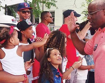 City Councilor Tito Jackson at the Dominican Festival parade.
