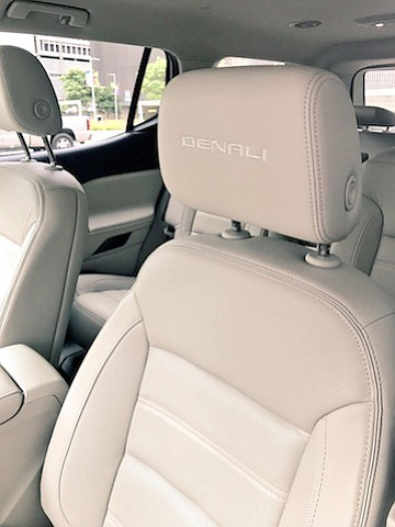 inside the 2017 GMC Acadia Denali