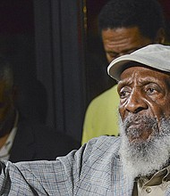 Gregory died on Saturday, August 19, 2017. This photo was taken during a rally against police brutality at the African American Civil War Memorial in Washington, D.C.