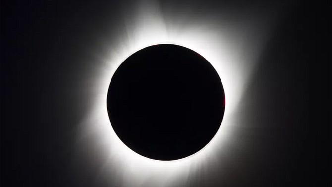 The August 21st total solar eclipse seen from Madras, Oregon. Photo: NASA/Aubrey Gemignani