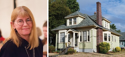 (left)  Cathy Galbraith, executive director of the Architectural Heritage Center. (right) The historical Rutherford House at 833 N.E. Shaver was built in 1920 and was first home of the NAACP Credit Union. The NAACP Portland Chapter was founded in 1914.