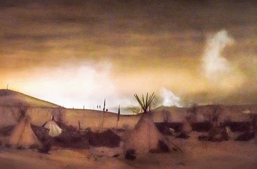 Portland story teller and visual artist Carolyn Campbell presents the landscapes of Standing Rock besieged by winter that will take ...