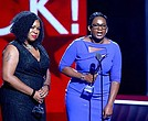 Derrica and Natalie Wilson accept Black Girls Rock Change Agent Award (Photo: Getty Images