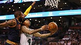 Isaiah Thomas #4 of the Boston Celtics drives to the basket against Kyrie Irving #2 of the Cleveland Cavaliers in the second half during Game One of the 2017 NBA Eastern Conference Finals at TD Garden on May 17, 2017 in Boston, Massachusetts. Elsa/Getty Images