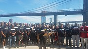 NYPD officers in Brooklyn rally for Colin Kaepernick