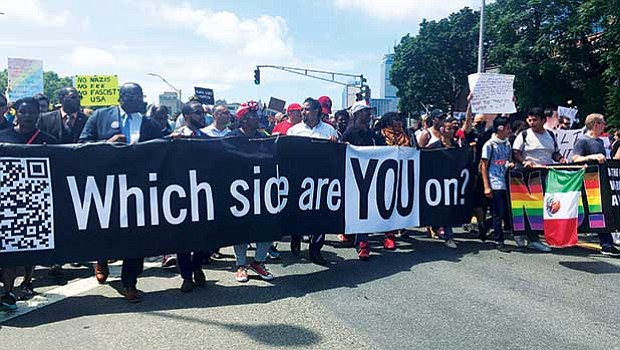 Fight Supremacy marchers used chants and signs to decry any who would promote racism, white supremacy, white nationalism, neo-Nazism and similar mentalities.