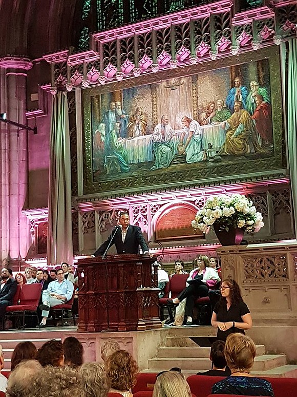 A diverse and growing coalition of New York City religious clergy and faith organizations called people of faith to gather, ...