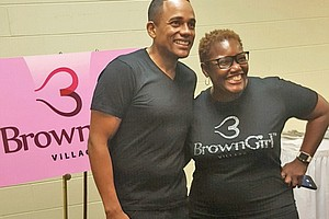 Accomplished actor, philanthropist and author Hill Harper with Gary, Indiana Mayor Karen Freeman-Wilson 