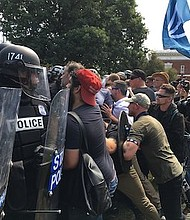 White supremacists clash with police. Wikipedia photo