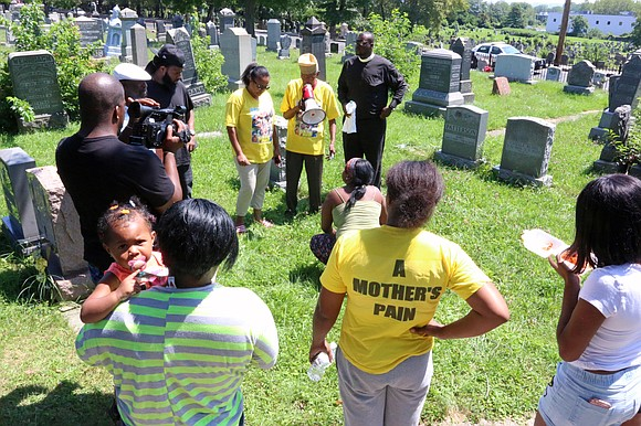 Commemorating their slain children, mothers gathered together in New Jersey.